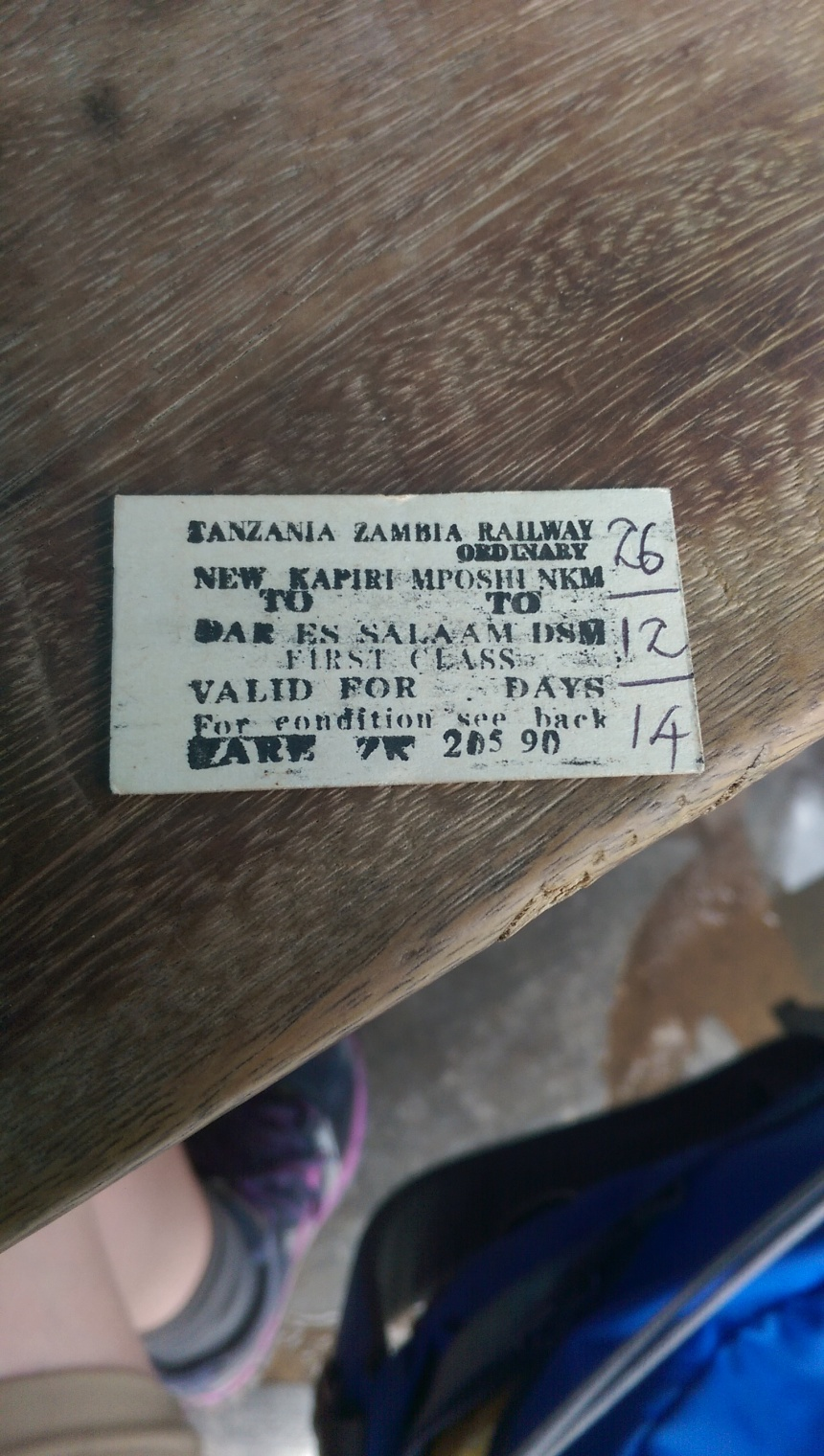 Tazara train ticket