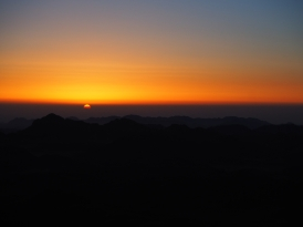 Sunrise from the top of Mt Sinai, Egypt