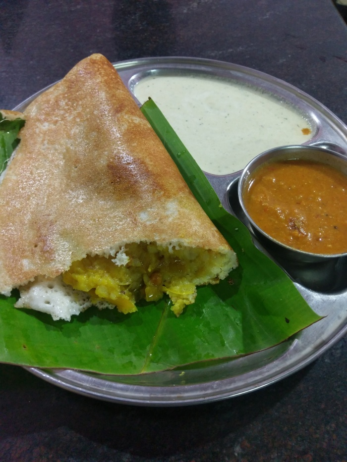 My first dosa in Mysore