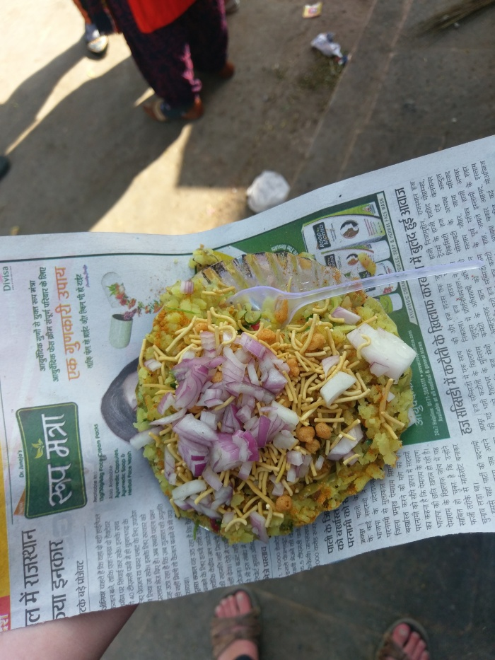 Poha street food in Jaisalmer