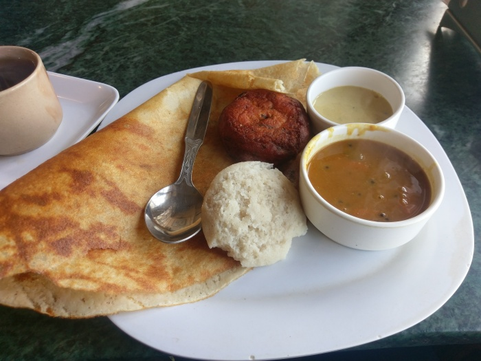 South Indian meal in Darjeeling