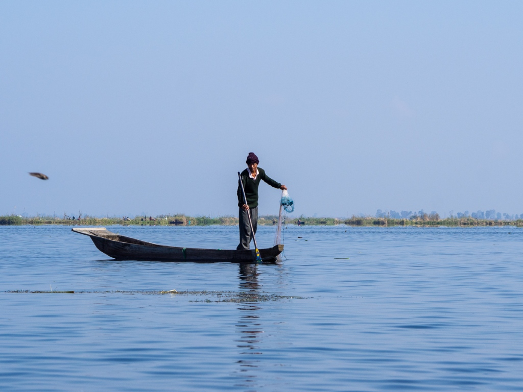 Fisherman on Loktak Lake