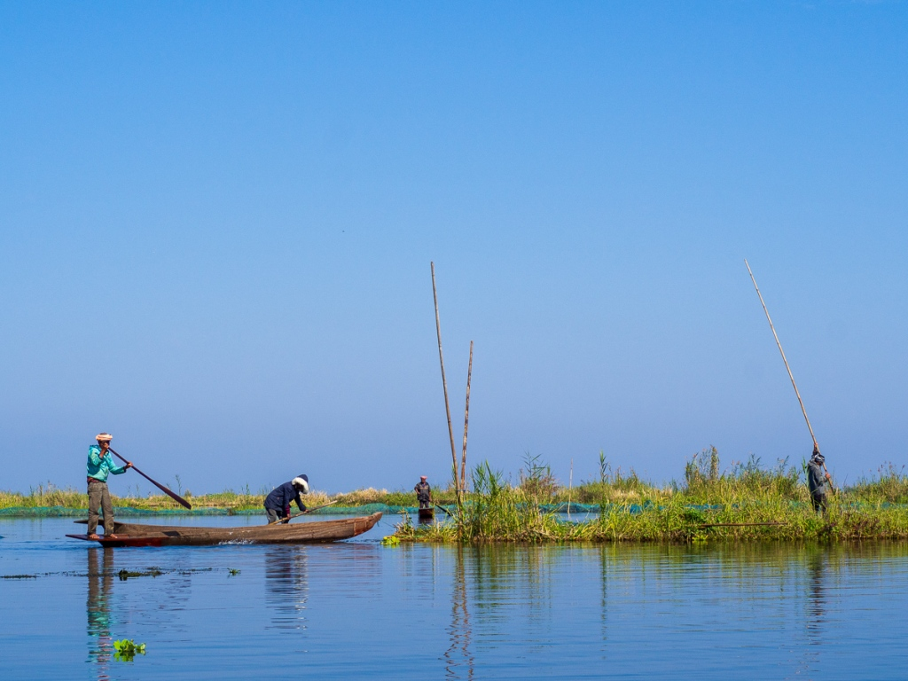 Fishermen on Loktak Lake