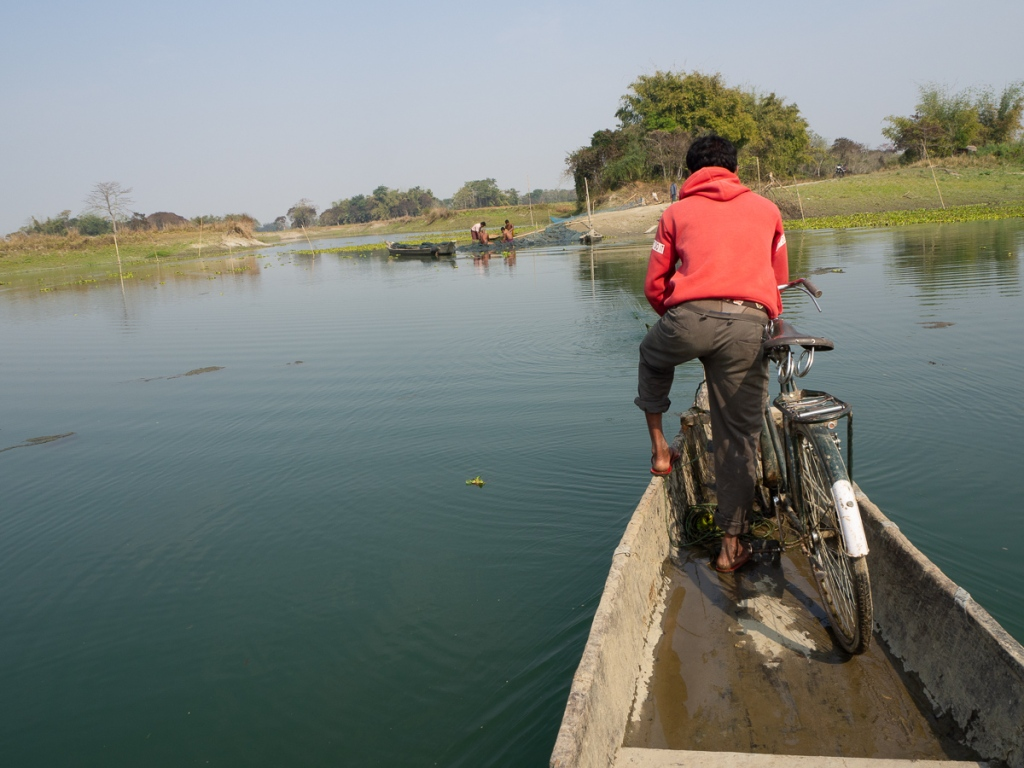 Water crossing on Majuli island