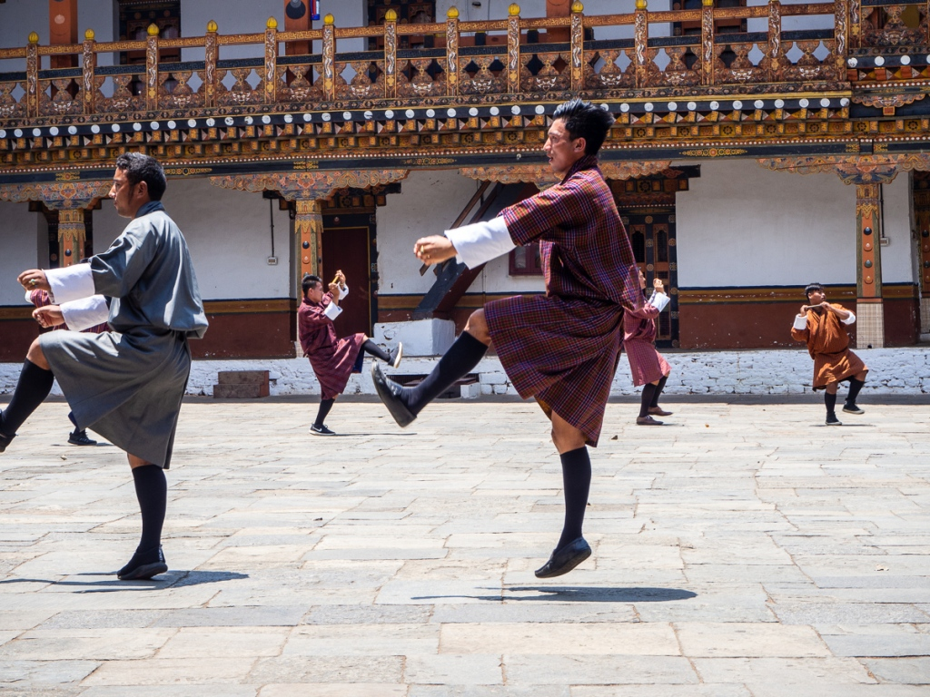 Traditional dancing Bhutan