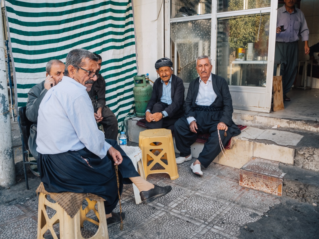 Kurdish men in Sulaymaniyah